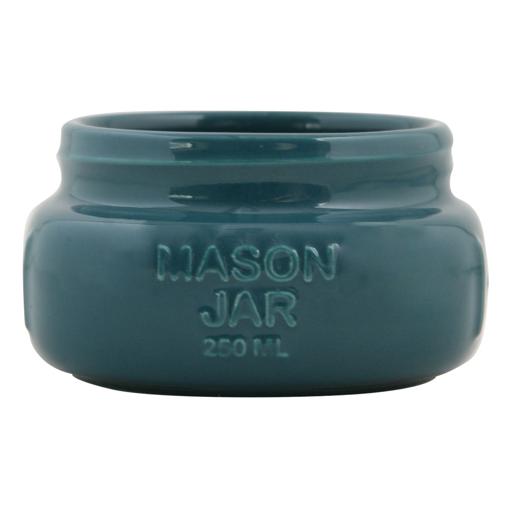 Turquoise Mason Jar