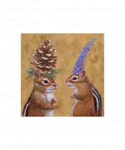 Chipmunk Courtship Cocktail Napkins