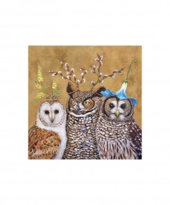 Owl Family Cocktail Napkins