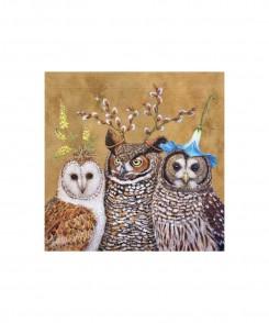 Owl Family Cocktail Napkins