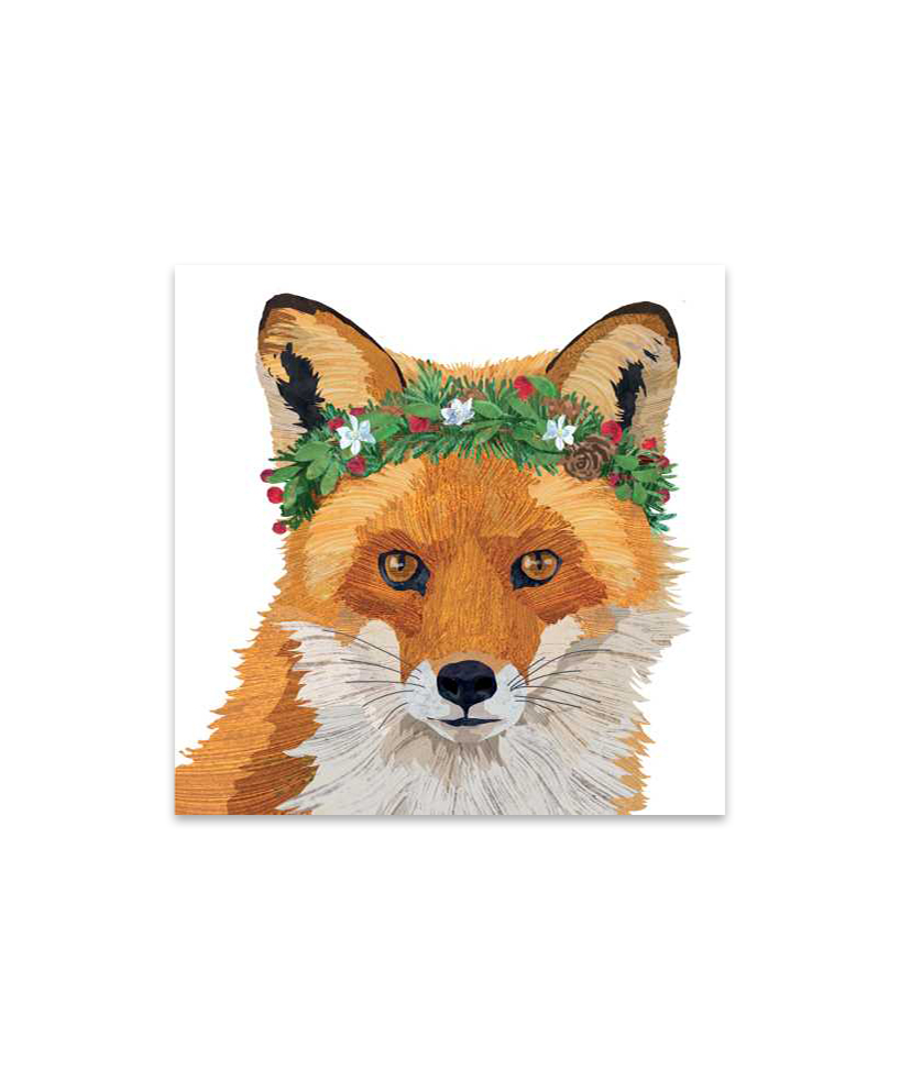 Glacier Fox Cocktail Napkins