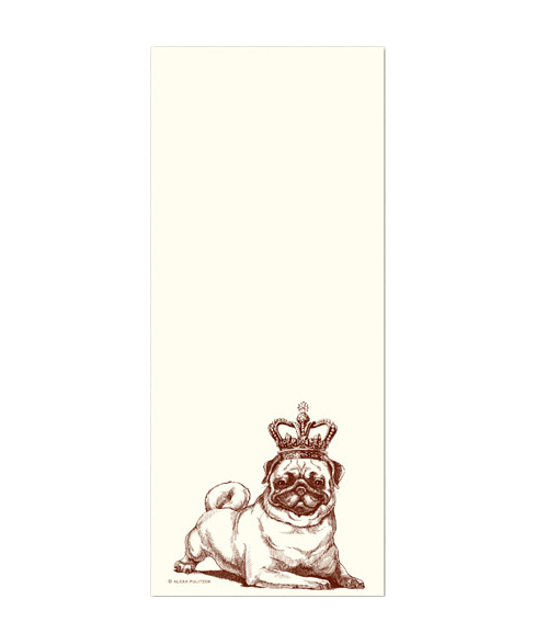 Royal Pug Notepad