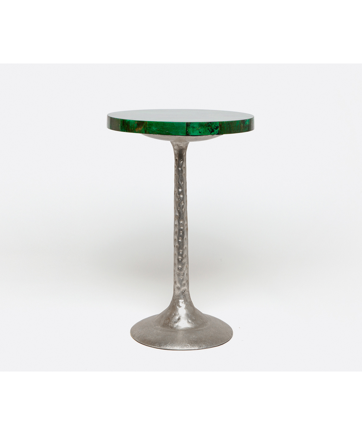Green Tab Shell Side Table Silver
