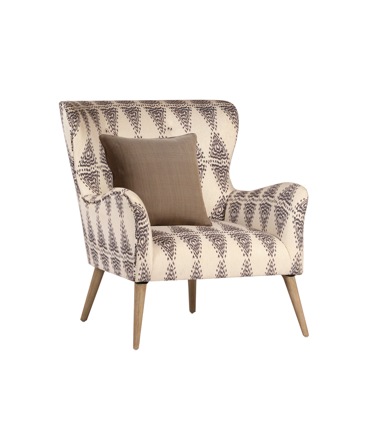 Ikat Wing Chair