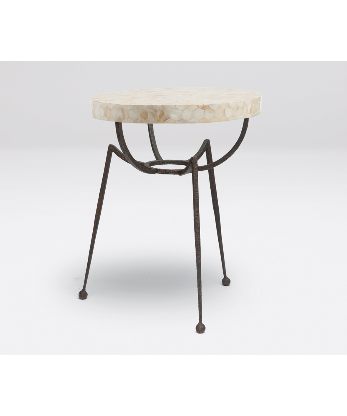 Sculptural Accent Table Black
