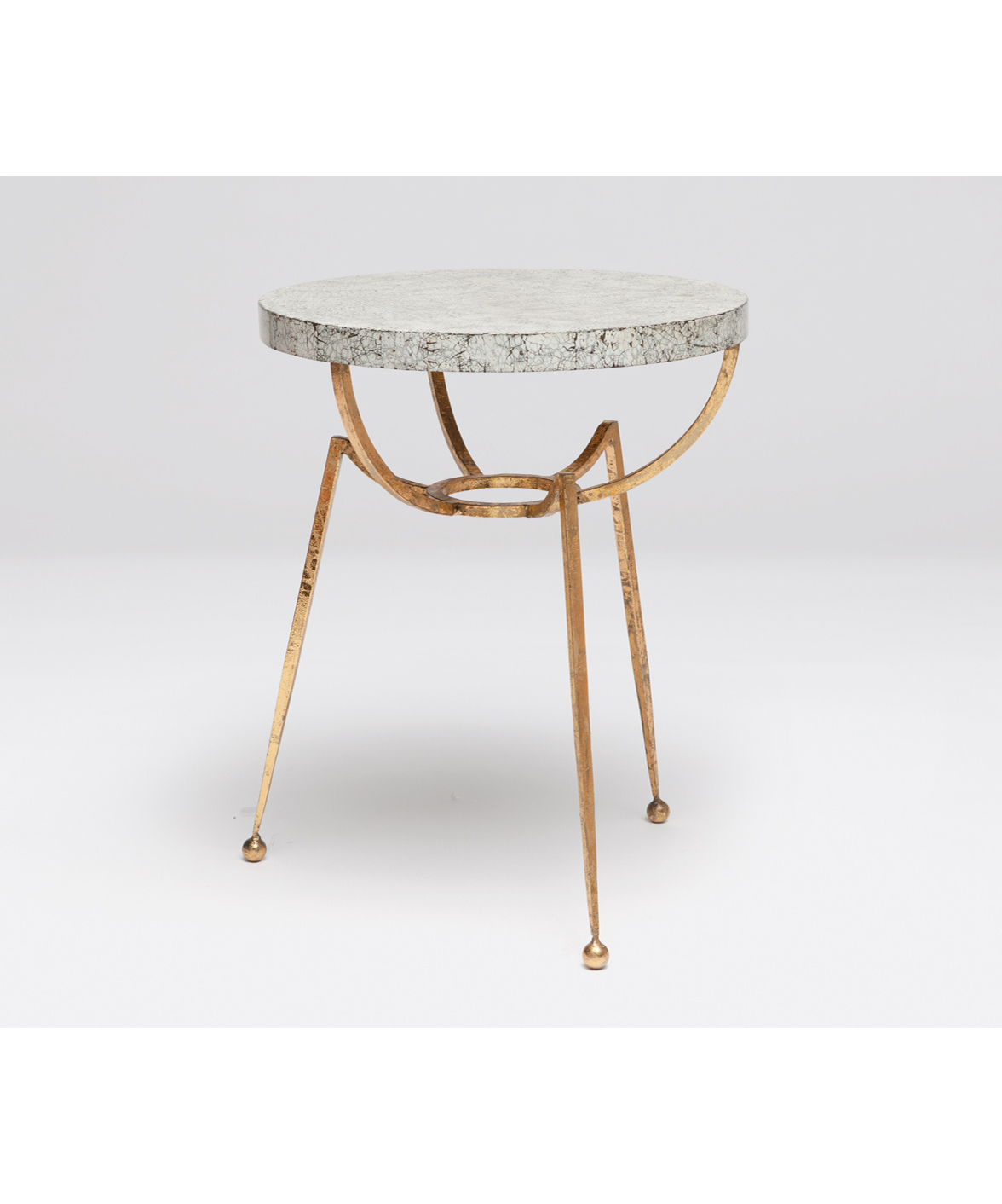 Sculptural Accent Table Gold