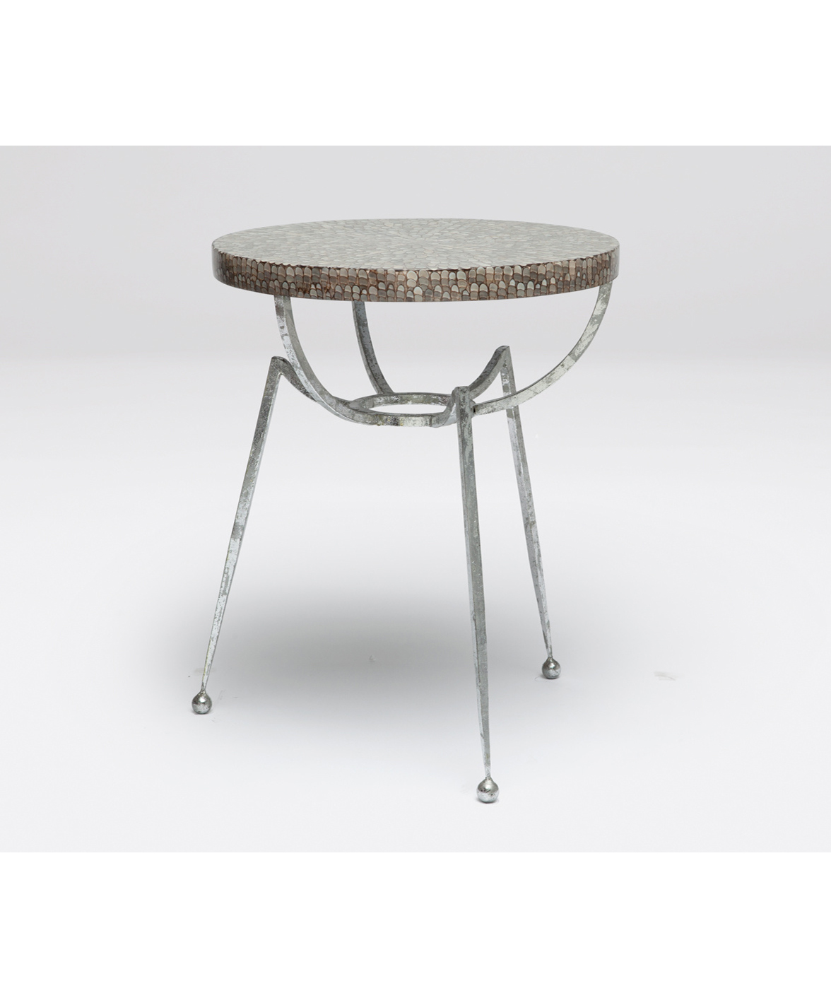 Sculptural Accent Table Silver
