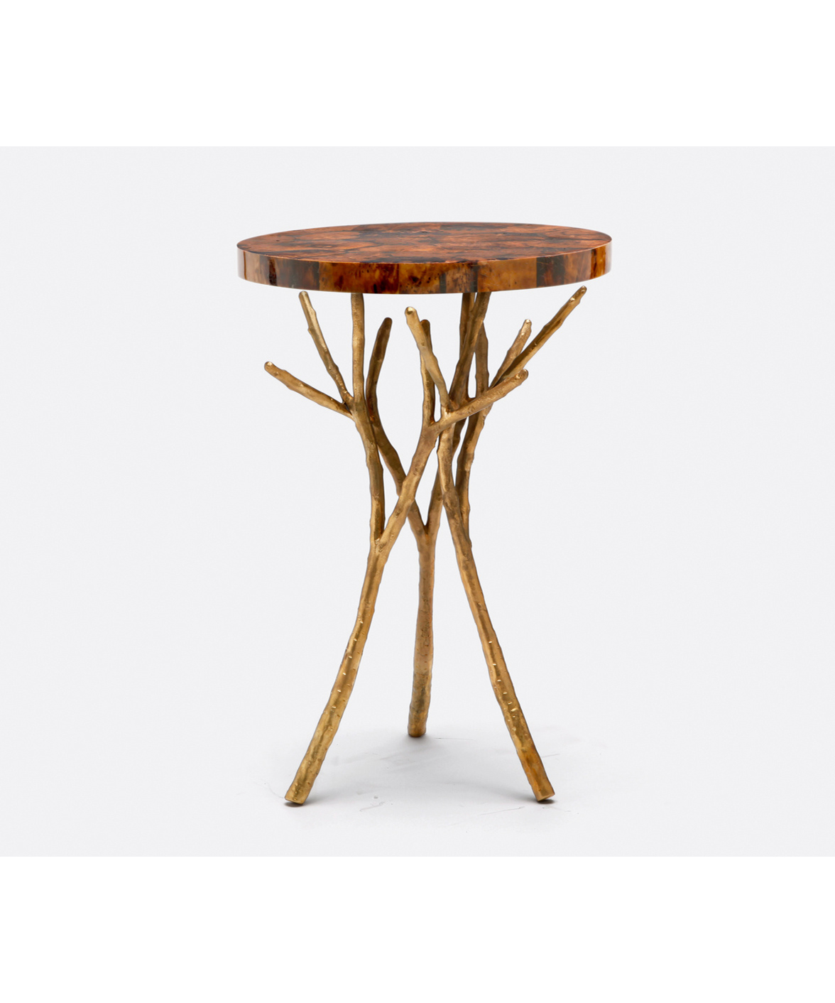 Twig Branch Side Table Gold