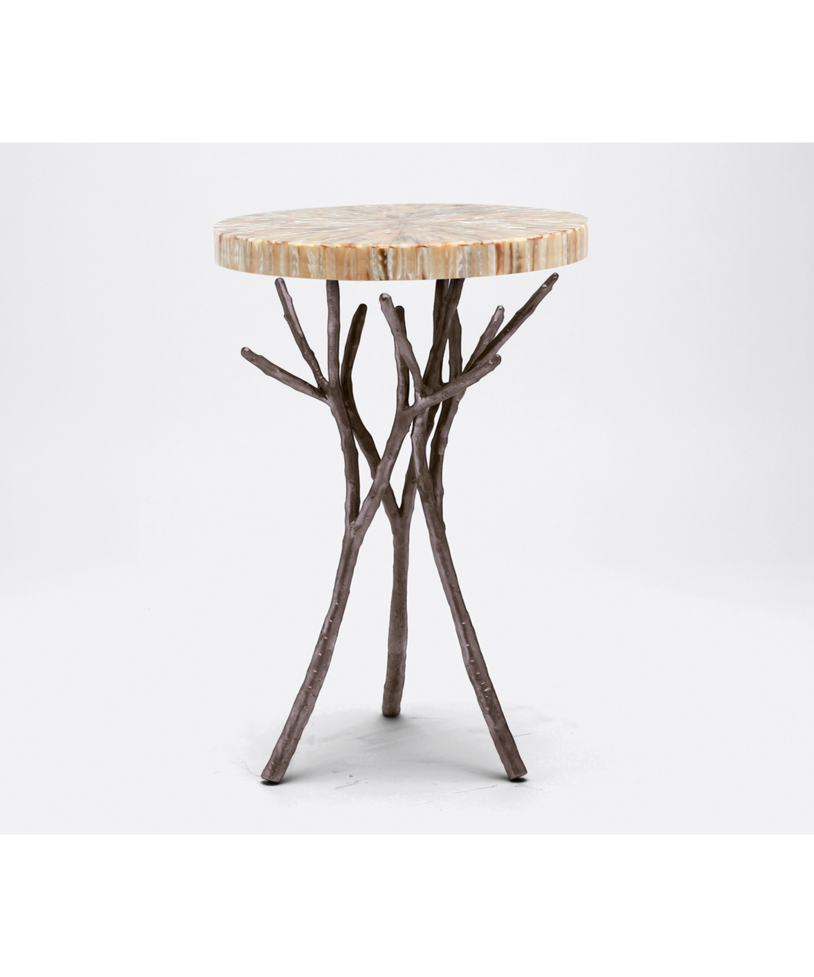 Twig Branch Side Table Silver