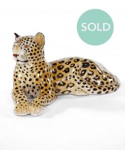 Vintage Leopard Sculpture
