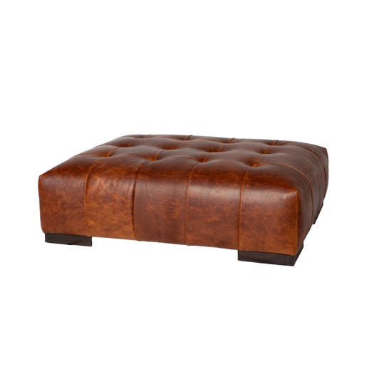 Arden Leather Ottoman Large