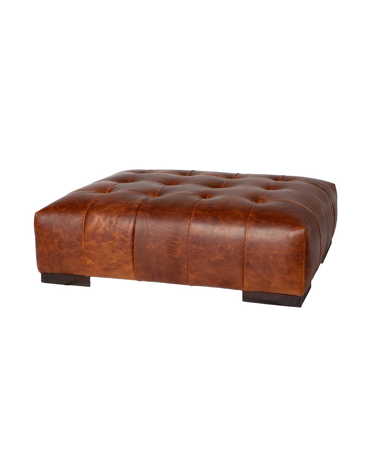 Arden Leather Ottoman Large
