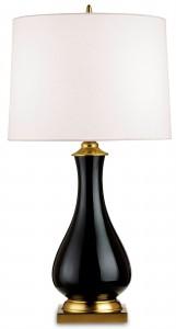 Crackle Table Lamp Black