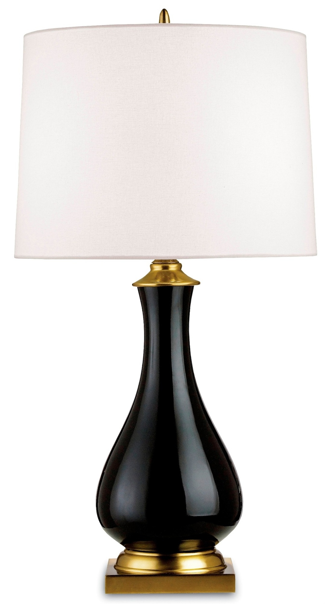 Crackle Table Lamp Black