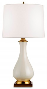 Crackle Table Lamp White