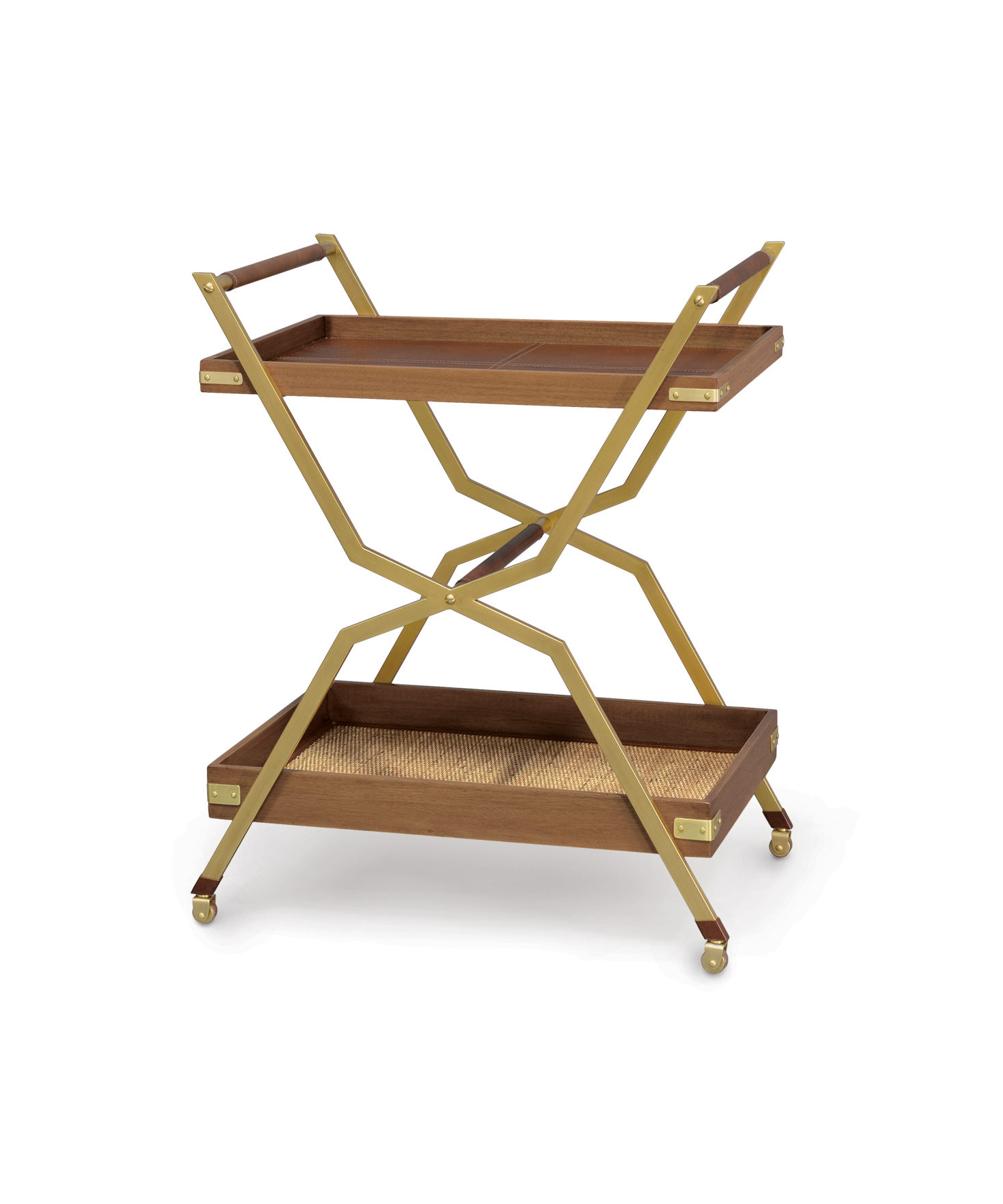 Leather Bar Cart