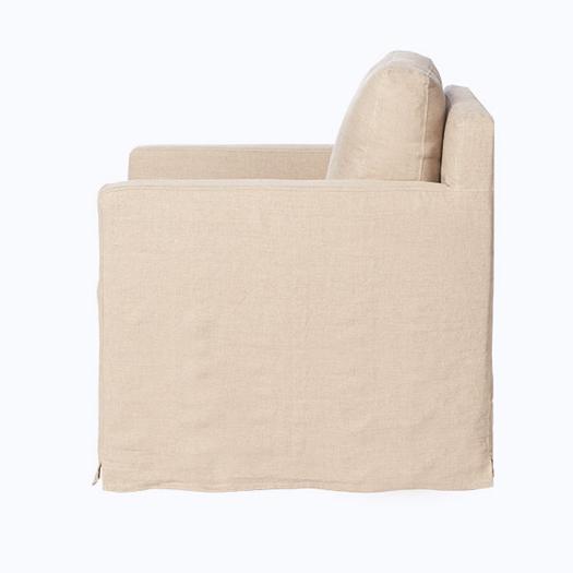 Louis Mini Slipcovered Swivel Chair