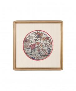 Chinese Embroidery on Silk, Set of Two