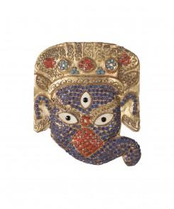 Indonesian Jeweled Masks, Set of Three