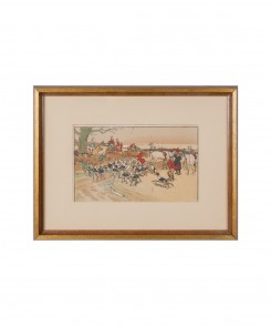 Antique Fox Hunting Prints, Set of Two