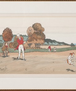 Golf Original Color Lithographs, Set of Three