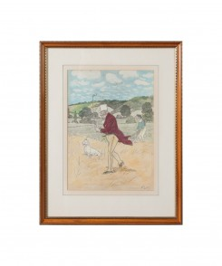 Golf Original Color Lithographs, Set of Two