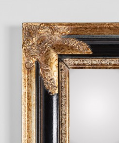 Vintage Gilt and Ebony Mirror
