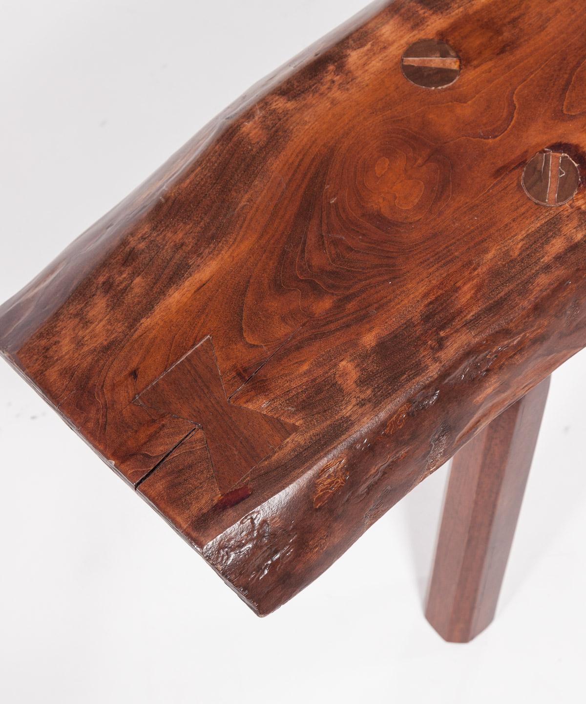 Artisan Natural Wood Bench
