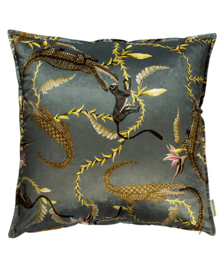 Jungle_Animal_Velvet_Pillow_Grey