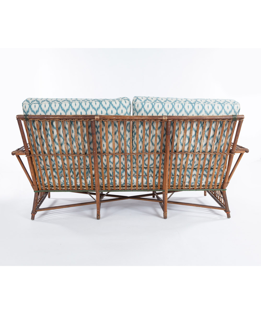 Antique Wicker Settee