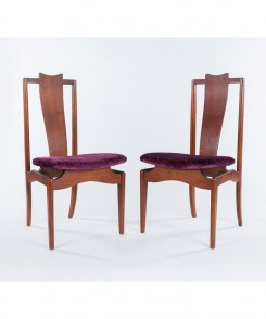 Mid-Century Modern High Back Chairs, Set of Two