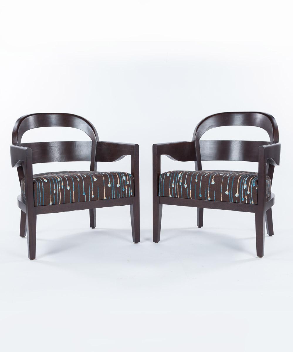 Jiun Ho Lounge Chairs, Set of Two