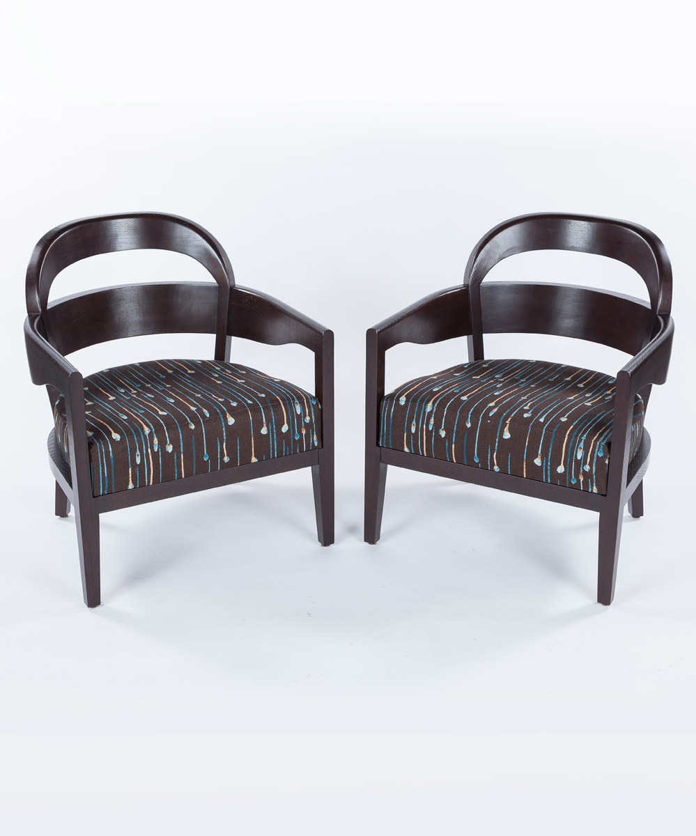 Jiun Ho Lounge Chairs, Set of Two